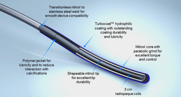 Hi-Torque Command™ peripheral workhorse guidewires construction and features contribute to success