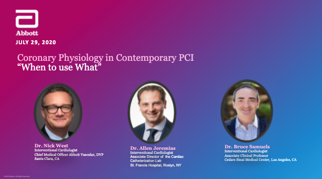 "Coronary Physiology in Contemporary PCI ""When To Use What"""