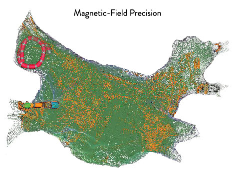 Ensite Precision Cardiac Map of Magnetic-Field Precision