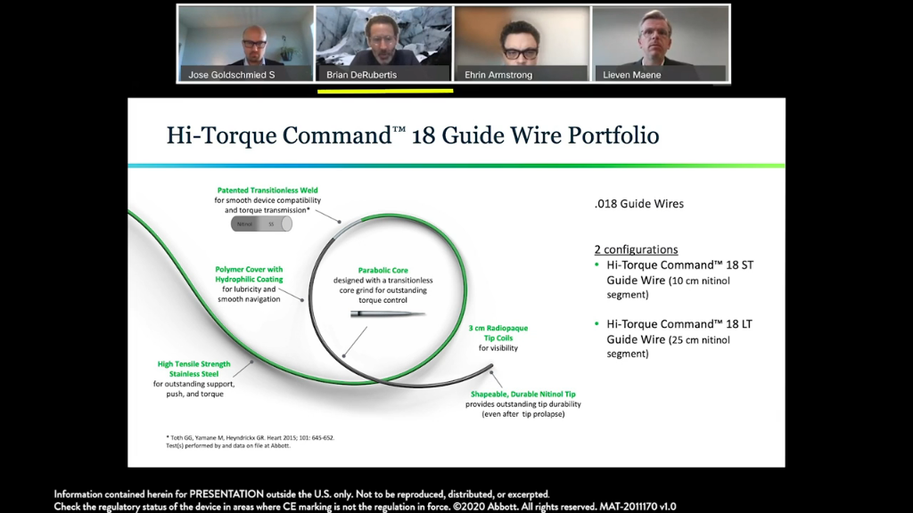 The Hi-Torque Command Guide Wire and Hi-Torque Command 18 Guide Wire Portfolio