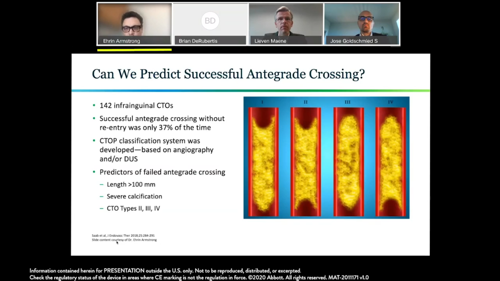 Predictors of Successful Antegrade Crossing