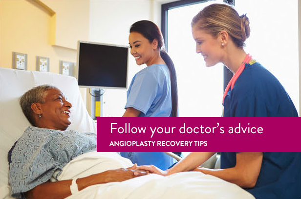 angioplasty recovery partner with doctor