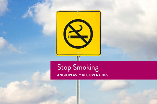 angioplasty recovery stop smoking