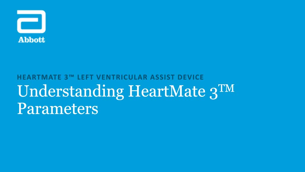 HeartMate 3 LVAS Pump Parameters