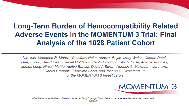 HEMOCOMPATIBILITY RELATED OUTCOMES AT TWO YEARS IN THE MOMENTUM 3 FULL COHORT