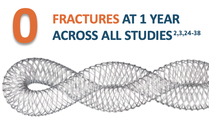 17 studies show 0 fractures at 1 year with Supera™ Stent