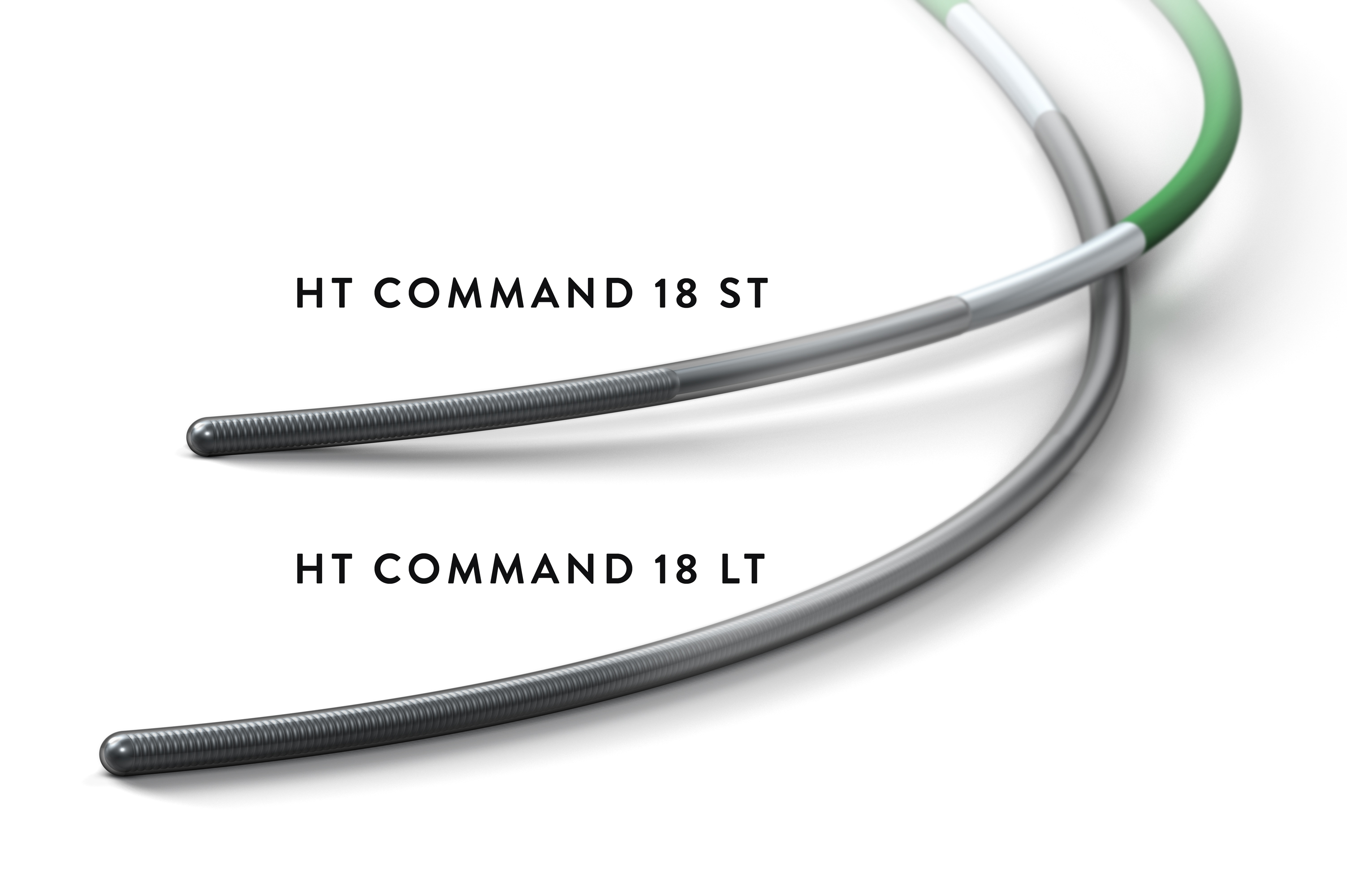 Two Hi-Torque Command 18 guide wires